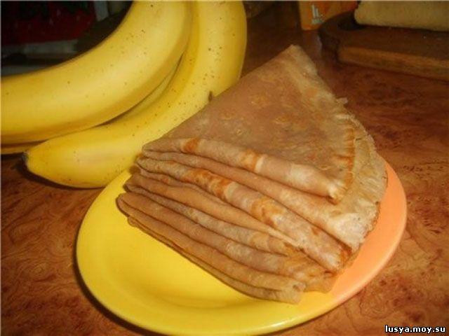 Рецепт банановых блинчиков фото